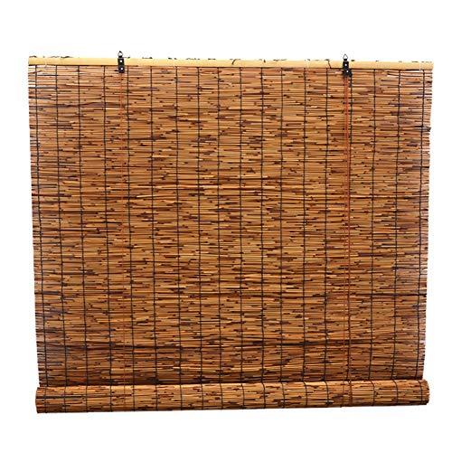 CHAXIA Enrouleurs Store en Bambou Rétro Roseau Style Chinois Rideau De Paille Zen Visière Tirer La Corde Élevant, Multi-Taille, Personnalisable (Couleur : A, Taille : 110x220cm)