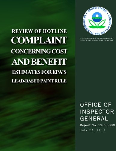 Review of Hotline Complaint Concerning Cost and Benefit Estimates for EPA's Lead-Based Paint Rule
