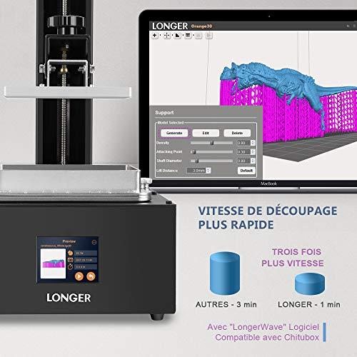 LONGER Orange 30 3D Drucker, Harz 3D Drucker mit Touchscreen, 2K-LCD-Bildschirm, Matrix-UV-LED, größeres Druckformat 12 cm (L) x 6,8 cm (B) x 17 cm (H) mit 250 g Harz - 6