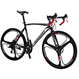 Eurobike Bikes HYXC550 54CM Frame 700C 3 Spoke Wheels 21 Speed Road Bike Dual Disc Brake Road Bicycle