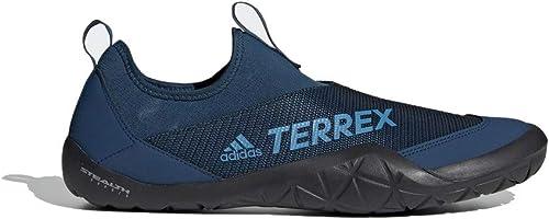 Adidas outdoor Men& 39;s Terrex CC Jawpaw II Slip-On Legend Marine Shock Cyan noir 12 D US