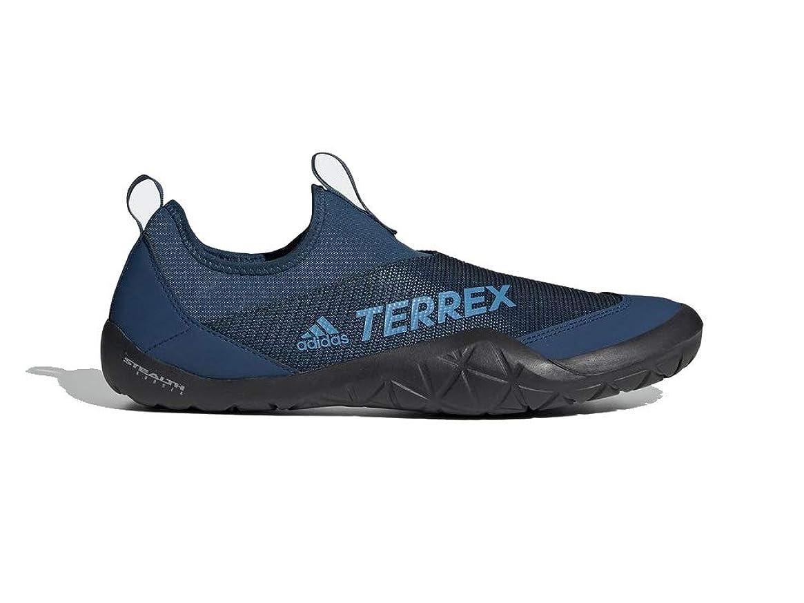 adidas Outdoor Men's Terrex Summer.RDY Jawpaw II Water Shoe, legend marine/shock cyan/Black, 9 M US