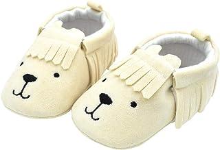 11cm/Blanc Chaussures Premier Pas Prewalker Anti-Dérapant Bas Princesse pour 1-6 Mois Aivtalk Chaussures dEté Bébé Fille Mixte Souples Dessin Fleurs avec Bowknot