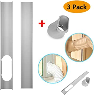 Window Slide Kit Plate/Window Adapter, Portable AC Vent Kit for Sliding Glass Doors and Large Windows, 2Pcs Window Slide Kit Plate/6inch Window Adapter for Portable Air Conditioner