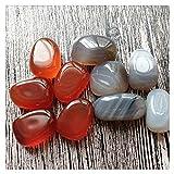 CIJK 30 PC Piedra Preciosa Natural Rocas Sin Recargamiento Rocas Hermosas Piedra Adorno Adorno Fondo Tanque De Fondo Accesorios para Decoración Color Aleatorio