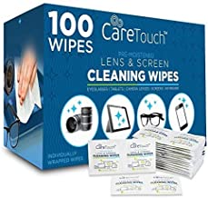 Care Touch Pre-Moistened Lens Cleaning Cloths   100 Individually Wrapped Wipes