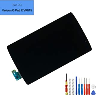 Replacement LCD Touch Compatible with LG Verizon G Pad X 8.3 VK815 Screen Display Digitizer Full Assembly Parts with Frame + Adhesive + Tools