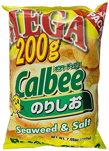 Calbee Mega Potato Chips, Seaweed & Salt, 7 oz