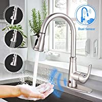 Dalmo DAKF5F Brushed Nickel Plating Touchless Kitchen Faucet With Fingerprints Resistant