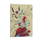 DONEECKL Avatar The Last Airbender Poster decoración Pintura Lienzo Arte de la Pared Imagen decoración del hogar Mural de la Sala de Estar