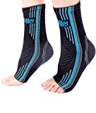 Doc Miller Ankle Brace Compression - 1 Pair Support Best Foot Sleeve Achilles Tendonitis Plantar Fasciitis Arthritis Reduces Swelling