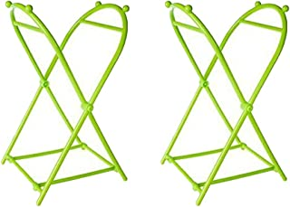 Trash Bags Holder Stand, Portable Fold Up Trash Can Stand, Trash Stand Holder for Camping Suitable in Bedroom, Kitchen, Camping Indoor and Outdoor (2 pcs Green Trash Bag Holder)