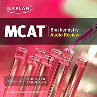 Kaplan MCAT Biochemistry Audio Review audiobook cover art