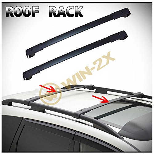 WIN-2X 2pcs New Factory Style Black Aircraft Aluminum Roof Rack Cross Bars Cargo Carriers +...