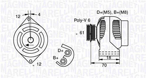Magneti Marelli 71721092 Lichtmaschine