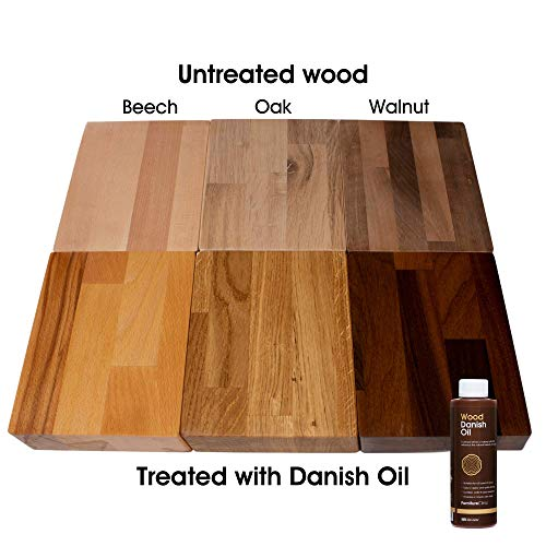 Furniture Clinic Danish Oil for Wood 250ml - Premium Oil to Enhance the Natural Beauty of Oak, Pine & More - Seal & Protect for a Satin Finish