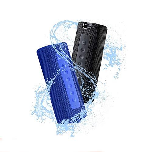 Xiaomi Mi Altavoz Bluetooth TWS IPX7 Protección contra el Agua Efecto de Sonido estéreo Altavoz inalámbrico portátil 16W 2600mAh 13 Horas de Tiempo Continuo Micrófono Incorporado Azul