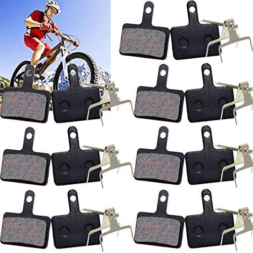 Osuter 7 Paar Fahrrad Bremsbeläge Scheibenbremsen Halbmetall Scheibenbremsbeläge Verschleißschutz Fahrrad Beläge für Mountainbike