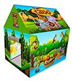 Planet of Toys Tent House for Kids 5 -10 Years Boys & Girls Big Size Tent House for Kids Baby and Kids Tens House (Jungle Safari Zoo)
