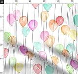 Luftballons, Wasserfarben, Party, Modisch, Baby Stoffe -