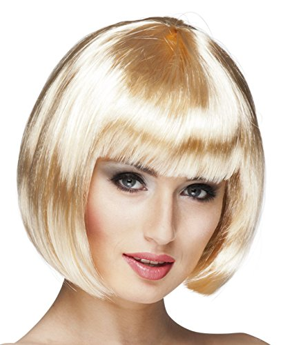 Boland 85882 - pruik Cabaret met pony, blond, voor volwassenen, pagenkop, Bob, pruik met korte haren, jaren 20 motto party, carnaval