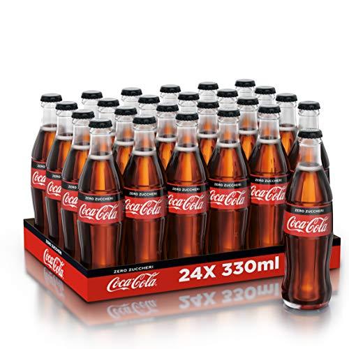 Coca-Cola Zero 330ml x24 (Bottiglia di Vetro)