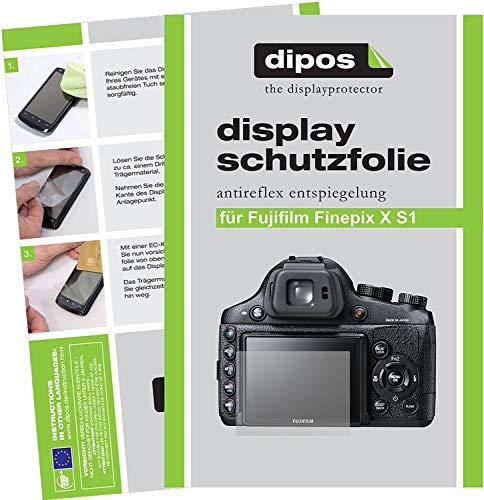 dipos I 6X Schutzfolie matt kompatibel mit Fuji Finepix X S 1 Folie Displayschutzfolie