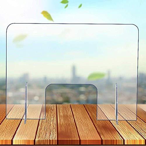 LYMHGHJ Escudo Protector contra estornudos Protector de plexiglás acrílico Transparente para contadores, Ventana de transacción para empleadores y Clientes, Barrera contra la Tos y los estornudos, 6