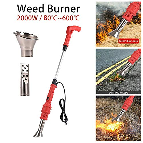 gaeruite Electric Weed Burner 2000W, Weed Killer, Electric Lawnmower Weeder Garden Gear Weed Killer Thermal Weed Stick, Tot 650 ℃, Tuingereedschap