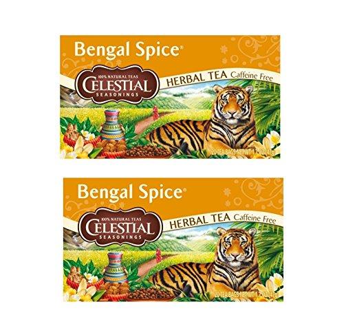 Pamai Pai® Doppelpack: 2 x 47g Bengal Spice Tee Kräutertee 40 Teebeutel vegan koffeinfrei zuckerfrei