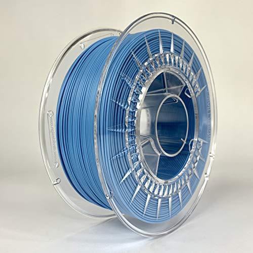 Devil Design | Filament | PLA Matt Blue - blau matt | 1.75 | 1kG | für Anfänger und Fortgeschrittene | Top Haftung | wenig Stringing | leicht zu drucken | verzugsarm und geruchslos