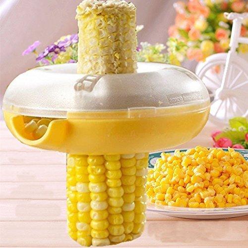 Pelador de maíz Pelador de maíz PEI Removedor de maíz Herramientas de cocina con guardia de mano Accesorios de cocina Herramienta de maíz X 1 Conveniente y práctico
