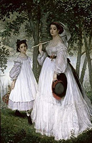 James J. Tissot – Portrait in a Park (Portrait dans un Parc James J. Tissot 1836-1902/French Muse d'Orsay Paris Poster Drucken (45,72 x 60,96 cm)
