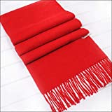 HAZVPO Women's Scarves Thickening Scarf Shawls Festival Red -