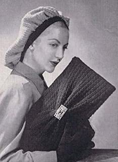 Draped Snood with Bag Crochet Hat  & Purse Pattern
