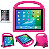 iPad 2/3/4(9.7 inch,2011/2012) Case for Kids - SUPLIK Durable Shockproof Protective Handle Bumper Stand Cover with Screen Protector for Apple iPad 2nd,3rd,4th Generation, Pink
