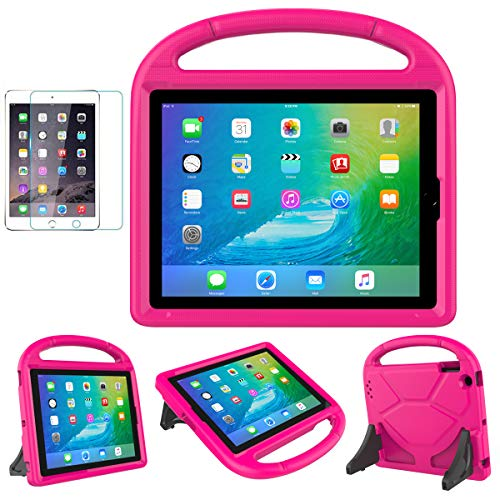 iPad 2/3/4(Old Model) Case for Kids - SUPLIK Durable Shockproof Protective Handle Bumper Stand Cover with Screen Protector for Apple 9.7' iPad 2nd,3rd,4th Generation, Pink