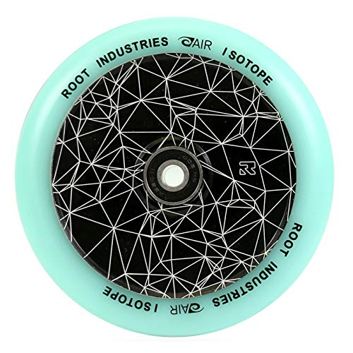 Root Industries Air 120 mm stuntstep + Fantic26 sticker (Isotope zwart/Pu turquoise)