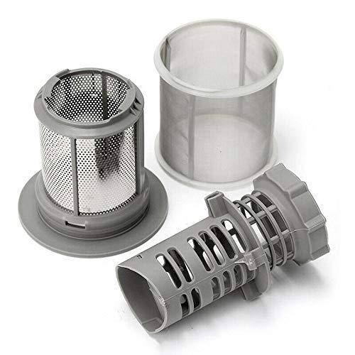 WorldCare® 2 Part Dishwasher Mesh Filter Set Grey PP for Bosch Dishwasher 427903 17074 S7I4