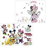 FANDE Pegatinas de Minnie, 2Pcs Pegatinas Infantiles Pared Minnie Pegatinas Stickers Pared Mickey Dormitorio Calcomanias para Dormitorio Niños