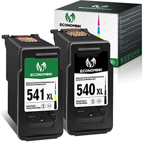 EconomInk Cartucho de tinta 540XL 541XL negro y tricolor 540 541 XL para Canon Pixma MG3650 MX475 MG3550 MG4250 MG3600 MG3200 MG3150 MXx395 TS5151 MX535 TS5150 MX525 MG3250