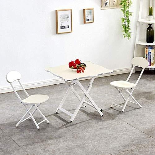 N/Z Wohngeräte Kinder Tisch- und Stuhlset Kompaktes tragbares Set Home Klappbarer Esstisch Kinder Kindertisch und 2 Stuhlset für das Studium im Innen- und Außenbereich (Farbe: Pink)