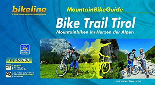 Bikeline MountainBikeGuide Bike Trail Tirol, Mountainbiken im Herzen der Alpen, 1000 km, 1 : 35.000, wetterfest/reißfest, GPS-Tracks Download