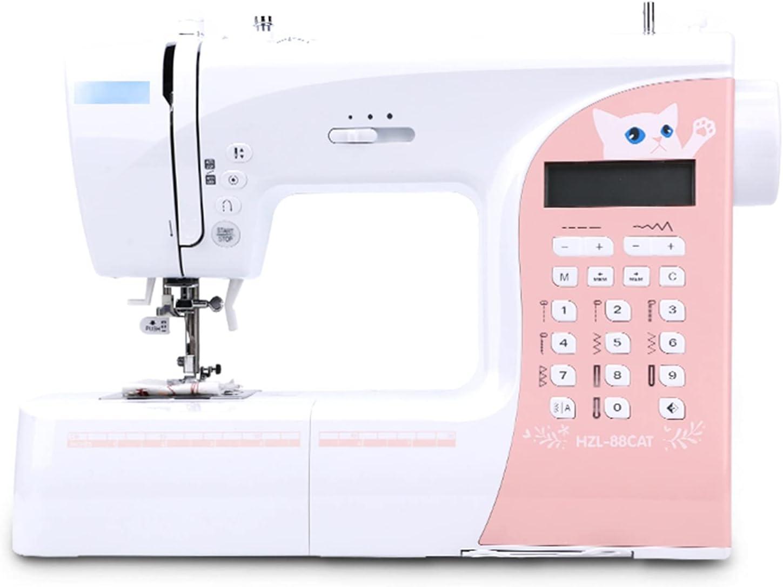 Máquina de Coser y Acolchar, 197 Puntadas Incorporadas de 3 Velocidades, Pantalla LCD, Amplia Mesa de Extensión, Los Mejores Regalos Adecuados para Viajes En Casa con Bricolaje, Ahorro De Espacio