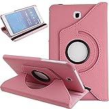 QiuKui Tab Coques pour Samsung Galaxy Tab 4 7.0 SM-T230 T231 T235, 360 Rotation Smart PU Stand Stand...