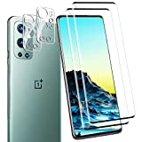 [2+2 Pack] for Oneplus 9 Pro Screen Protector Include 2 Pack Tempered Glass Screen Protector + 2 Pack Tempered Glass Camera Lens Protector,9H Hardness,Anti-Scratch, for Oneplus 9 Pro