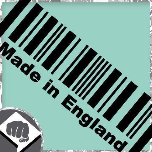 DBSPNCR Made in England Barcode Aufkleber GB Decal - Sticker Bomb Bombing - in schwarz oder weiß - Tuning - DUB | DUBWAY (außenklebend, schwarz)