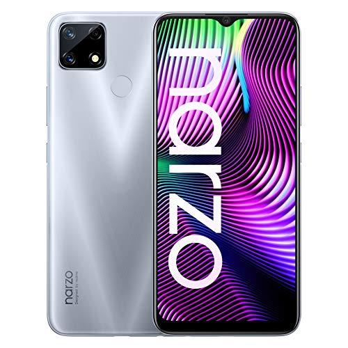 realme Narzo 20 Glory Sliver, 4GB RAM, 64GB Storage
