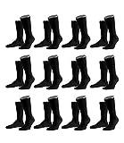 Falke 14435 - Calcetines deportivos para hombre, 12 pares Negro 43-44