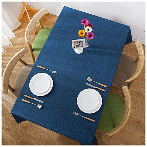 JLYZB effen tafelkleed, hotel Japanse tafellinnen modern waterdicht huishouden effen tafelkleed voor keuken eetkamer tafelblad koffie kleur 90x90 cm (35x35 inch)